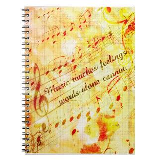 KRWのヴィンテージ音楽は感覚のノートに触れます ノートブック