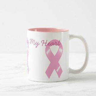KRWの乳癌-私のハートの近くの原因 ツートーンマグカップ