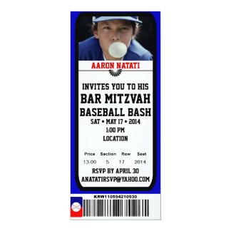KRWの写真の野球のバーの(ユダヤ教の)バル・ミツバーのチケットの招待状 カード