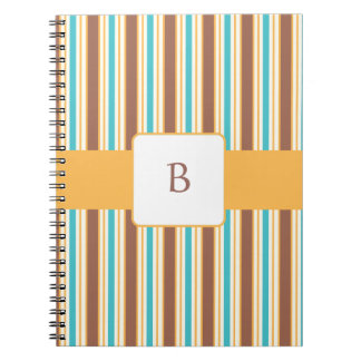 KRWの夏の微風のカスタムなモノグラムのノート ノートブック