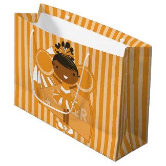 KRWの大きいオレンジチアリーダーのパーティのギフトバッグ- ラージペーパーバッグ