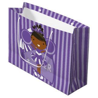 KRWの大きい紫色のチアリーダーのパーティのギフトバッグ- ラージペーパーバッグ