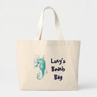 KRWの子供のカスタムなタツノオトシゴのビーチのバッグ ラージトートバッグ