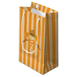 KRWの小さいオレンジチアリーダーのパーティのギフトバッグ- スモールペーパーバッグ
