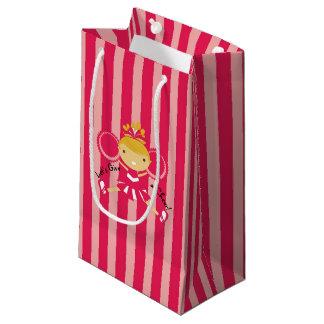 KRWの小さいピンクのチアリーダーのパーティのギフトバッグ- スモールペーパーバッグ