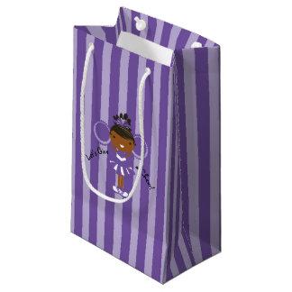 KRWの小さい紫色のチアリーダーのパーティのギフトバッグ- スモールペーパーバッグ