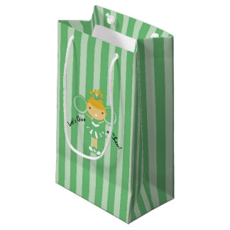 KRWの小さい緑のチアリーダーのパーティのギフトバッグ- スモールペーパーバッグ