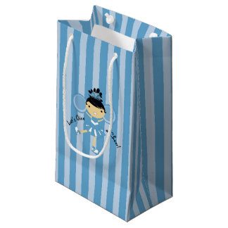 KRWの小さい青いチアリーダーのパーティのギフトバッグ- スモールペーパーバッグ