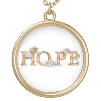 KRWの希望のネックレス ゴールドプレートネックレス