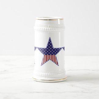 KRWの愛国心が強い旗の星 ビールジョッキ
