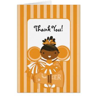 KRWの民族のオレンジチアリーダーはノート感謝していしています カード