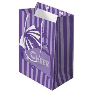 KRWの紫色のチアリーダーのパーティのギフトバッグ-媒体 ミディアムペーパーバッグ