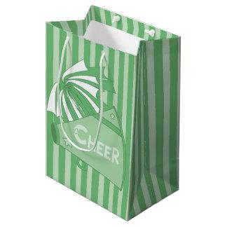 KRWの緑のチアリーダーのパーティのギフトバッグ-媒体 ミディアムペーパーバッグ