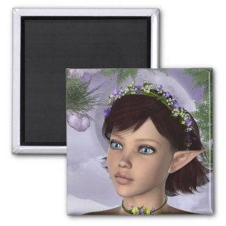 KRWの花の妖精のファンタジー マグネット