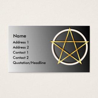 KRWの金ゴールドのウィッカ信者の五芒星のカスタムな名刺 名刺
