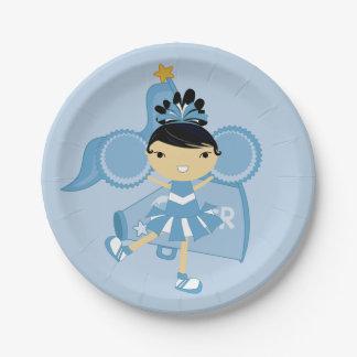 KRWの青いチアリーダーのパーティの紙皿 ペーパープレート