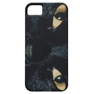KRWの黒猫の顔のiPhone 5の場合 iPhone SE/5/5s ケース
