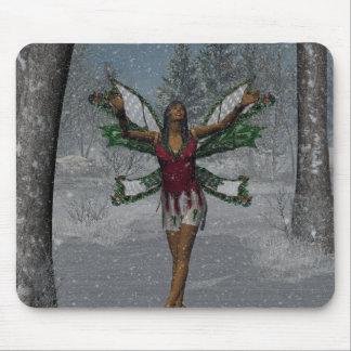 KRWはそれがマウスパッドクリスマスのFaeryの雪が降るようにしました マウスパッド