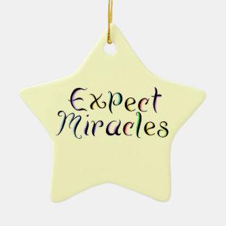 KRWは奇跡の星のオーナメントを期待します セラミックオーナメント