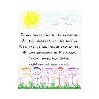 KRWイエス・キリストは幼い子供のキャンバスを愛します キャンバスプリント
