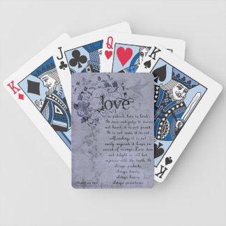 KRW愛はCorinthiansの結婚式の引き出物カードです バイスクルトランプ