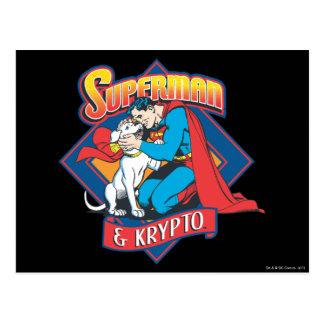 Kryptoのスーパーマン ポストカード