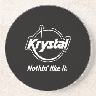 Krystalのロゴのコースター コースター