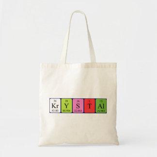 Krystalの周期表の名前のトートバック トートバッグ