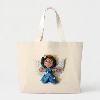 Krystalの天使I ラージトートバッグ
