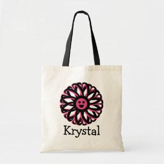 Krystalの幸せな花の名前入りなトートバック トートバッグ