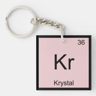 Krystal一流化学要素の周期表 キーホルダー