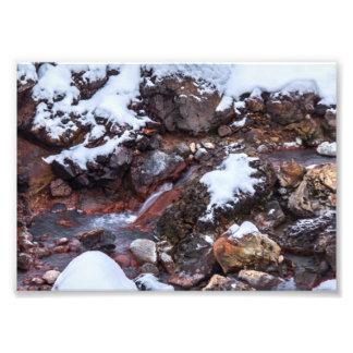 Krysuvic-Seltunの流れアイスランド フォトプリント
