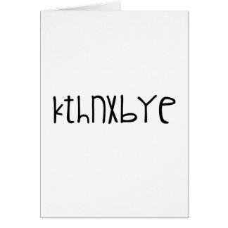 kthnxbye カード