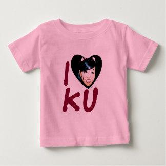 Kuアイコンtishirtのハート(2) ベビーTシャツ