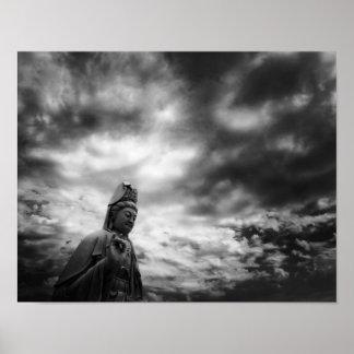 Kuanのインの彫像のファインアートの写真 ポスター