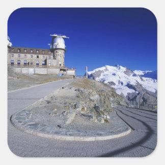 Kulmのホテルおよび道、Gornergrat、Zermatt、 スクエアシール