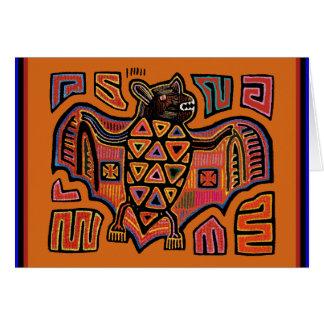 KunaのインドのMolaのこうもり カード