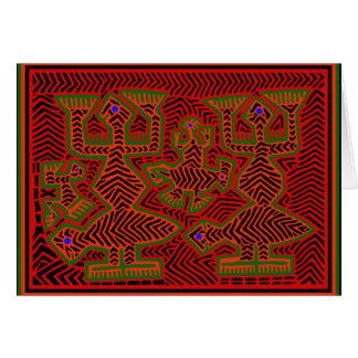 KunaのインドのMolaの精神 カード