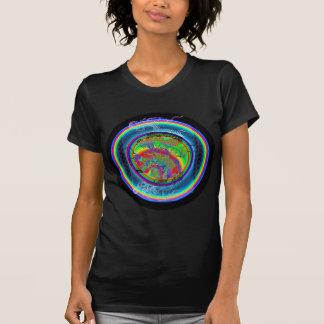 KundaliniのドラゴンのWomen'sTワイシャツ、(黒) Tシャツ