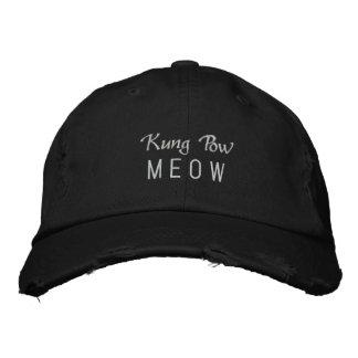 Kungの捕虜の猫の鳴き声 刺繍入りキャップ