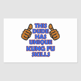 Kungのfuのデザイン 長方形シール