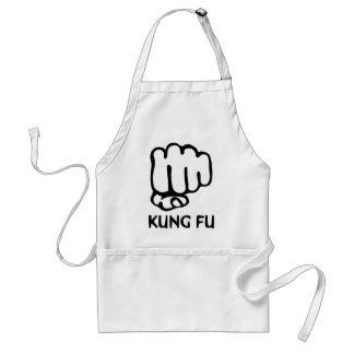 kungのfuの握りこぶしアイコン スタンダードエプロン