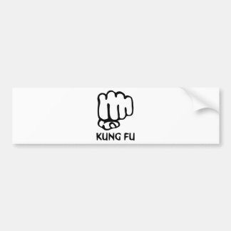 kungのfuの握りこぶしアイコン バンパーステッカー