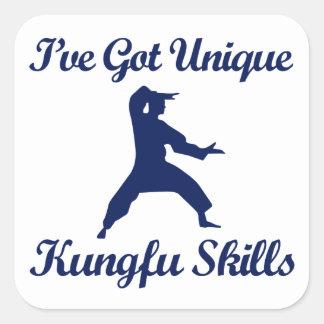 kungのfuの武道のデザイン スクエアシール