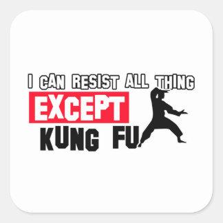 kungのfuの軍デザイン スクエアシール