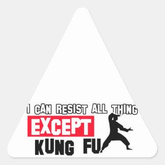kungのfuの軍デザイン 三角形シール