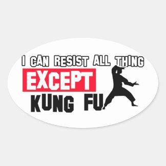kungのfuの軍デザイン 楕円形シール