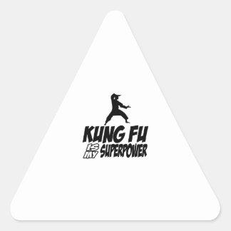 Kungのfu私の軍事大国 三角形シール