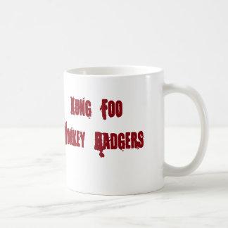 Kung Foo猿は標準的なマグを悩まします コーヒーマグカップ