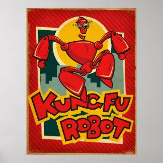 Kung Fuのロボットポスター ポスター